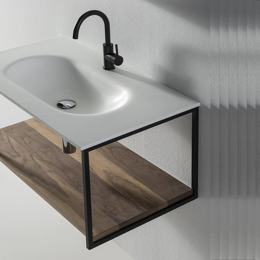 Efterstræbte Black Frame Flot og enkelt badeværelsesmøbel inkl. bordplade med YC-96