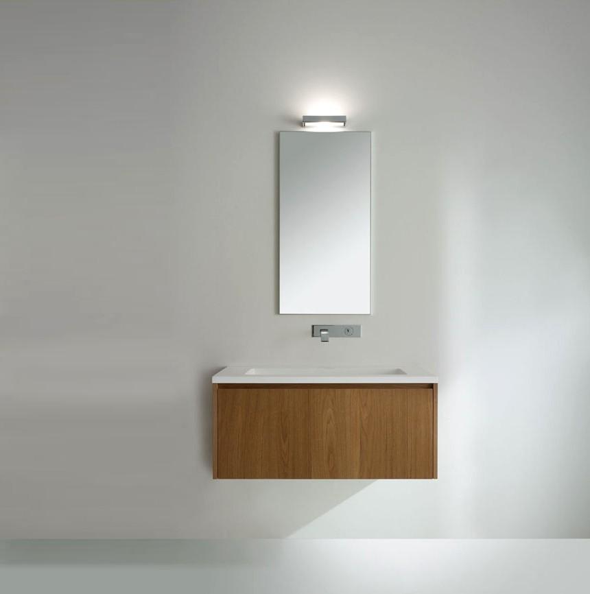 badeværelsesmøbler træ Badeværelsessæt i Hi Teak T 7010 med bordplade og håndvask badeværelsesmøbler træ