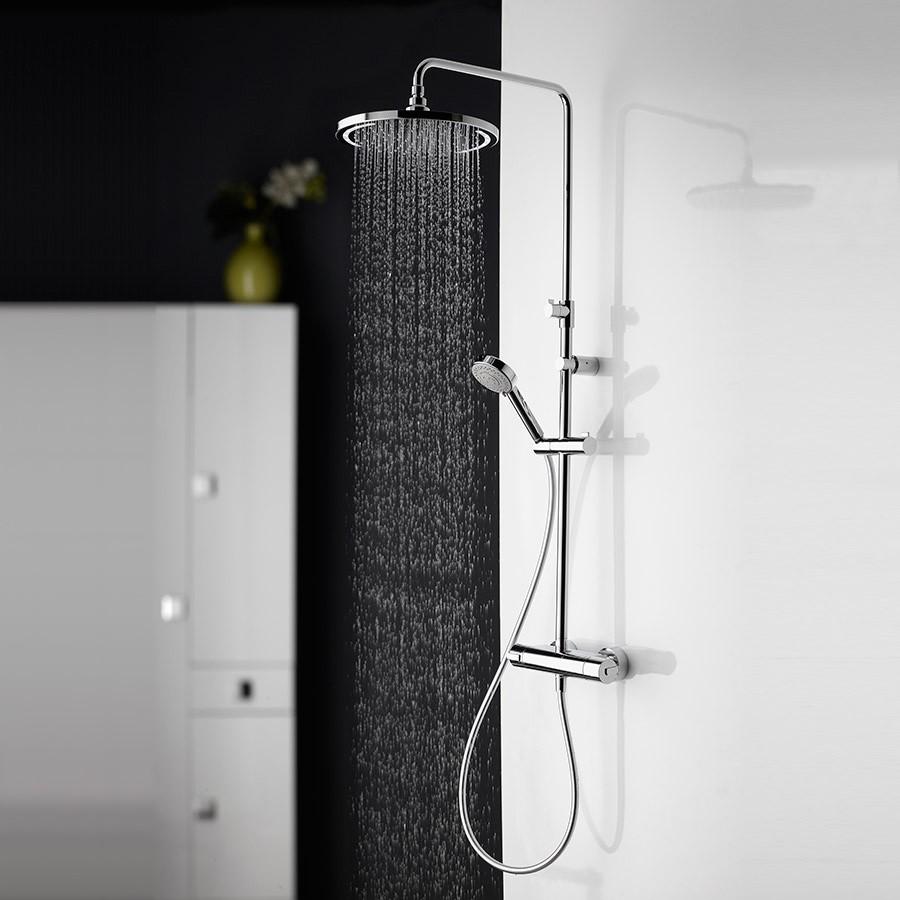 brusesæt Lækkert brusesæt med LED lys WL 01 til vægmontering brusesæt