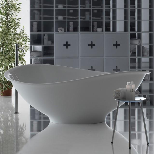 badekar design Banera   Fritstående badekar i smukt organisk design badekar design