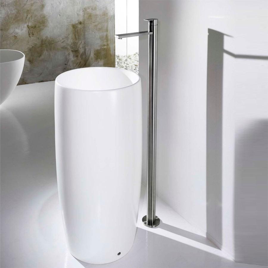 fritstående håndvask PILLAR   Fritstående håndvask i porcelæn i elegant stil | Design4home fritstående håndvask