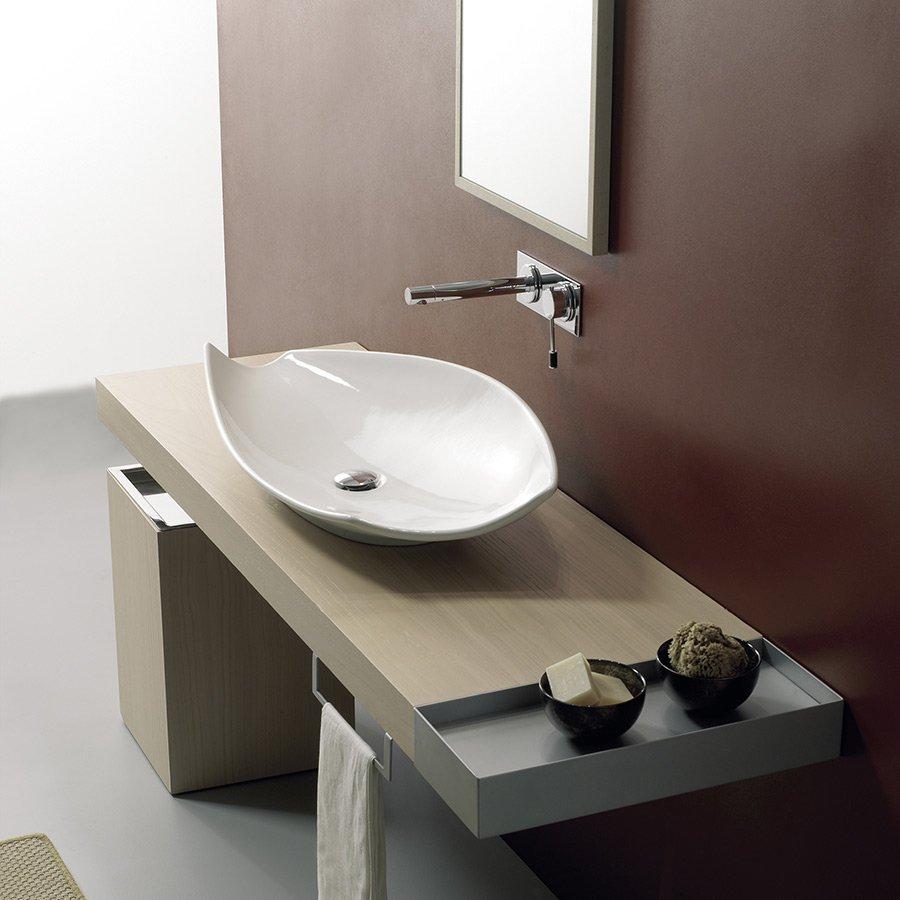 håndvask ovenpå bordplade Kong uden hanehul   Oval håndvask til bordplade i smukt design håndvask ovenpå bordplade