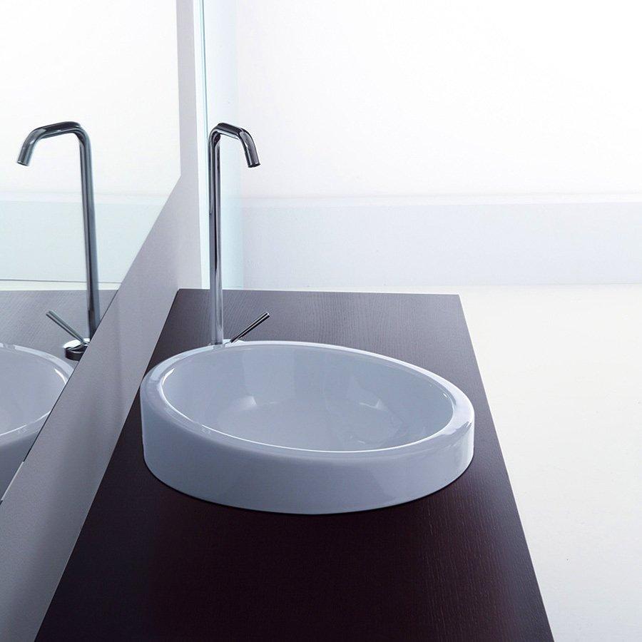 Opdateret Sfera 44 rund håndvask til montering i bordplade, håndvask til dit IS46