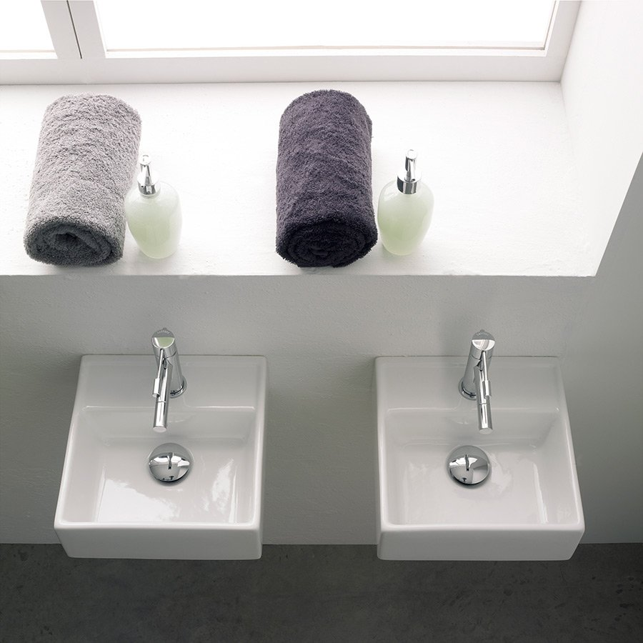 lille håndvask Teorema 30  Smart lille håndvask til placering på bordplade eller væg lille håndvask