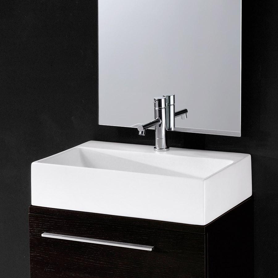 håndvask til badeværelse Thin Box 53   Rektangulær håndvask til det smalle badeværelse håndvask til badeværelse