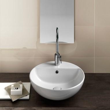 rund håndvask til badeværelse