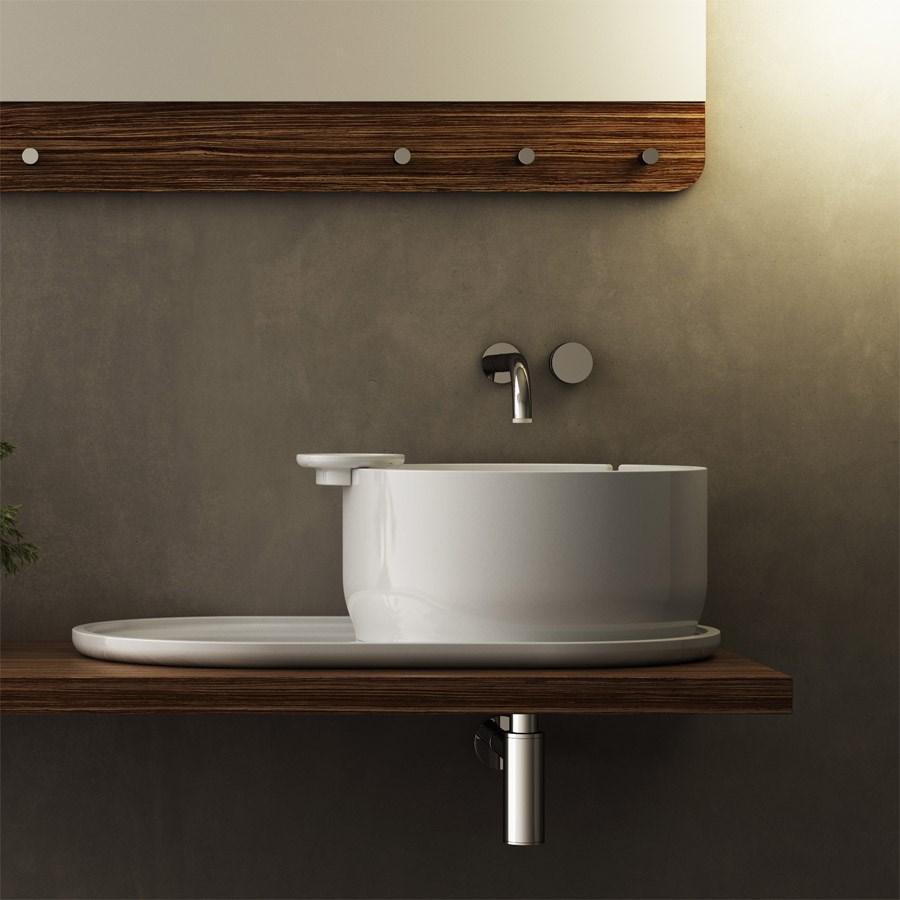 håndvask til bordplade Ukiyo e   Smuk og enkel rund håndvask til placering på bordplade håndvask til bordplade
