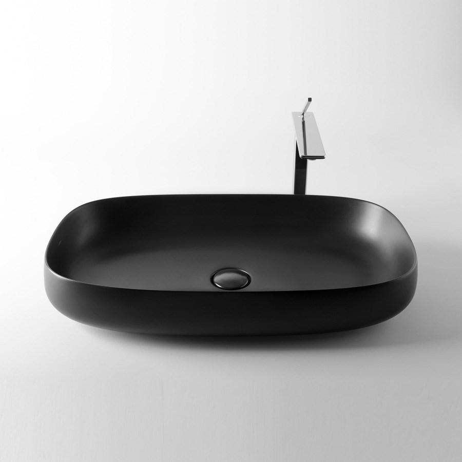 sort håndvask Seed 4   En sort håndvask i tyndt smukt design til bordplade sort håndvask