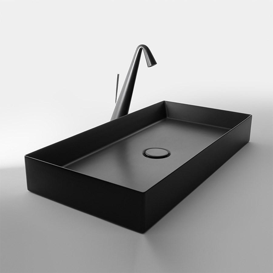 sort håndvask Track three   En smuk sort håndvask til bordplade sort håndvask