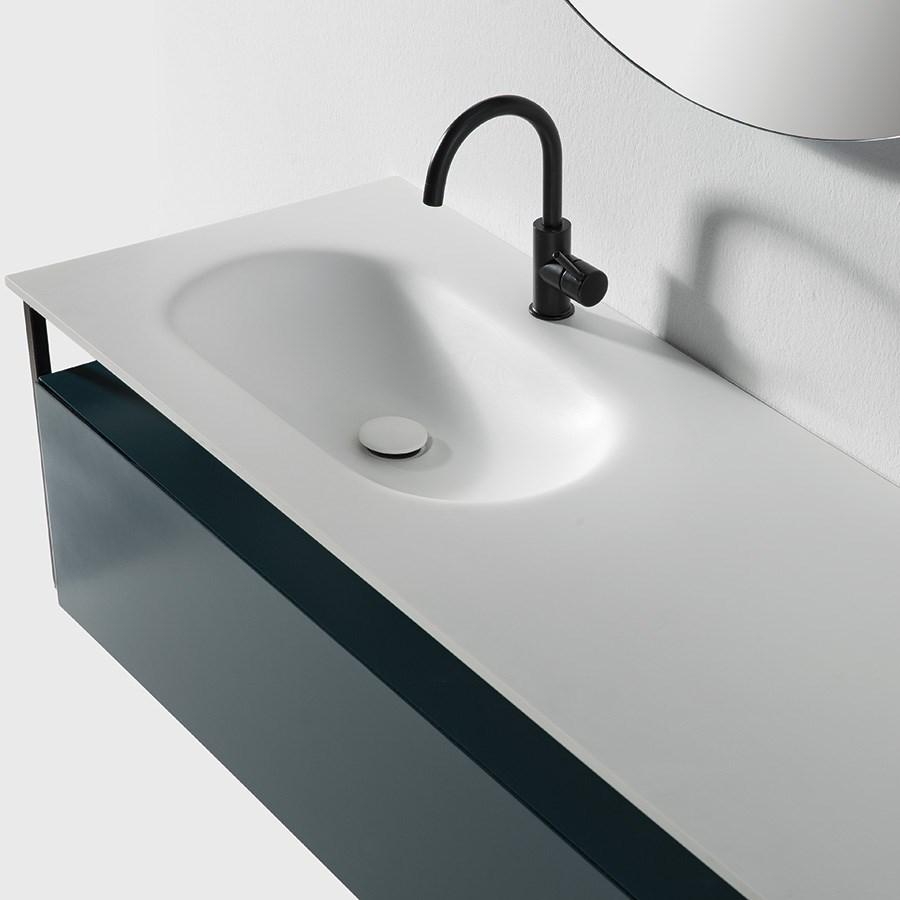 Populære Black Frame II Badeværelsesmøbel komplet m. bordplade, vask & skab ND-26