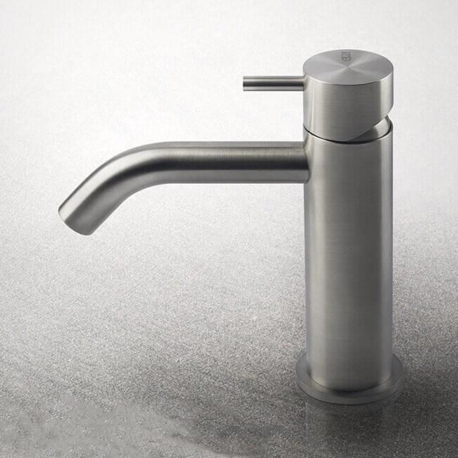 blandingsbatteri håndvask 316 Flessa Blandingsbatteri Børstet no. 1   i rustfrit stål til  blandingsbatteri håndvask