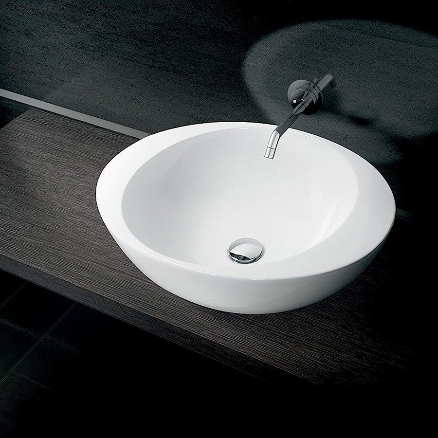 håndvask ovenpå bordplade Ovu   Smuk oval håndvask til placering på bordplade MADE IN ITALY håndvask ovenpå bordplade