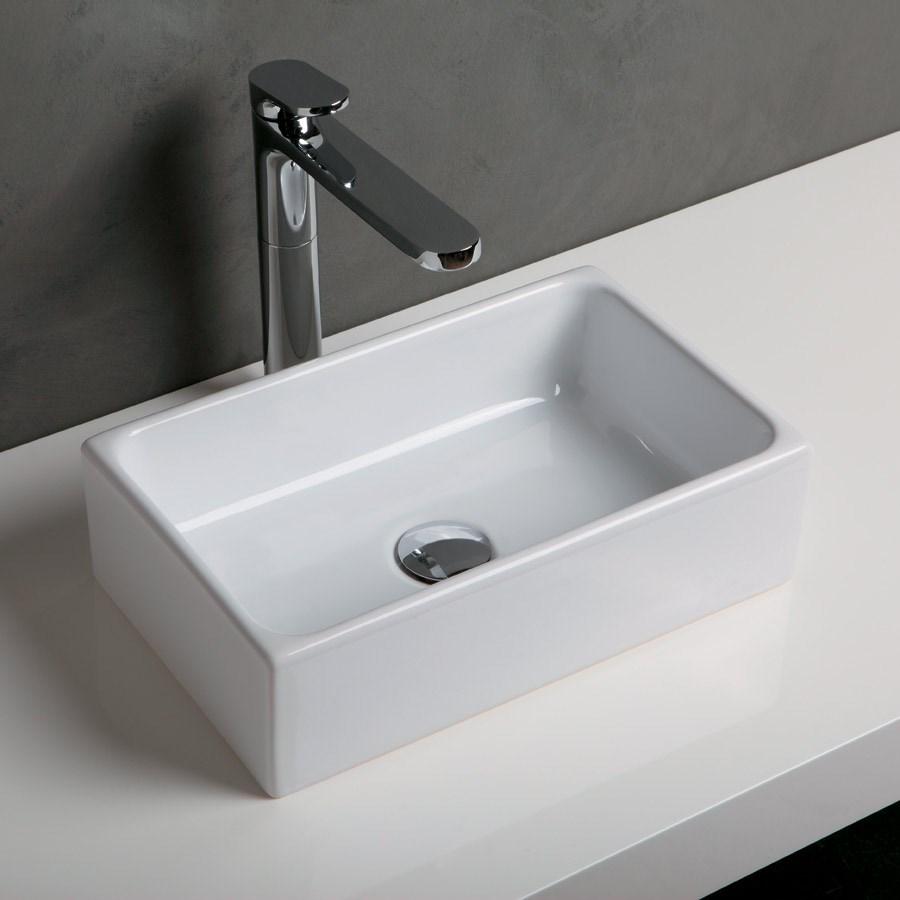 lille håndvask Geo II   Minimalistisk lille håndvask til smalle badeværelser lille håndvask