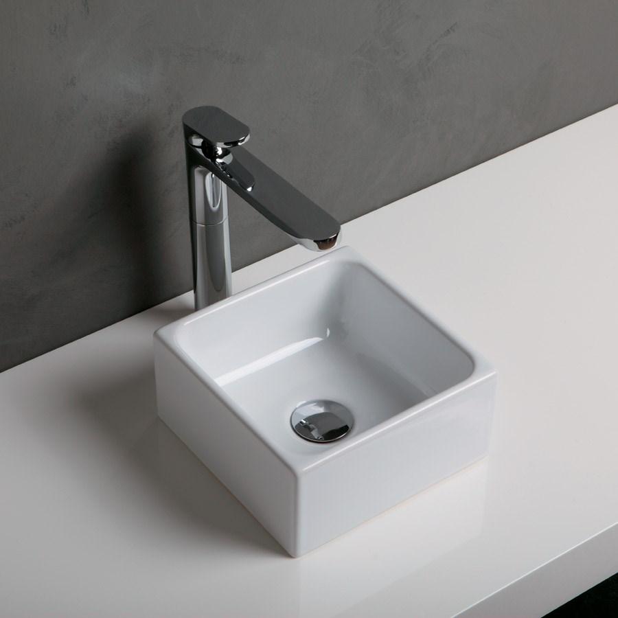 lille håndvask Geo I   Lille håndvask fra Italien perfekt i det lille badeværelse lille håndvask